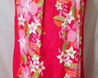 "SUMMER CLEARANCE SALE 70s Vintage Hawaiian Mod Tent Day Dress-Napili-Size 8-Medium-40"" Bust-Resort-Luau Cruise Hawaiian Hawaii Hibiscus Part"