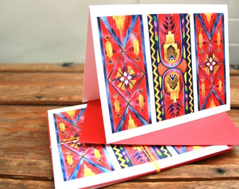 Magic Carpets Blank Greeting Card