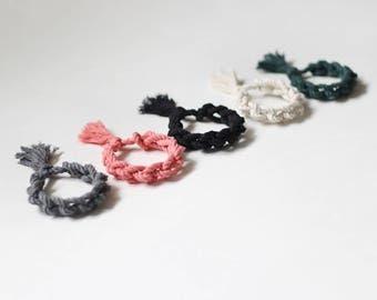 bracelet de corde de coton noué, choisissez votre couleur