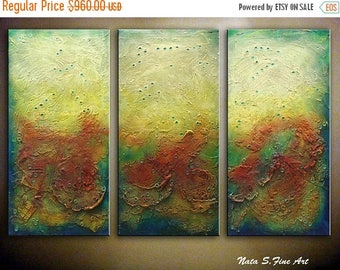 Summer SALE LARGE ABSTRACT Painting, Original Modern Heavy Textured Art, Palette Knife, Abstract Wall Decoration, Oversized wall Art 36 x 54