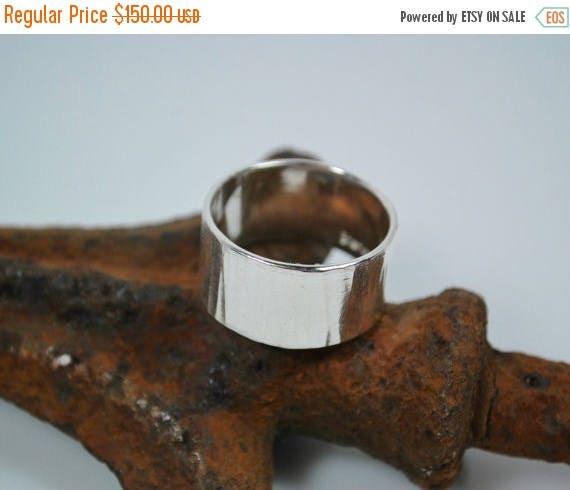 ON SALE Wedding Band - Tree Bark Wedding Band - Sterling Silver Woodland Ring - Nature Inspired Ring - Unisex Wedding Band