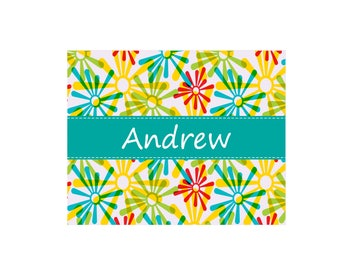 Personalized Starburst White Wall Canvas