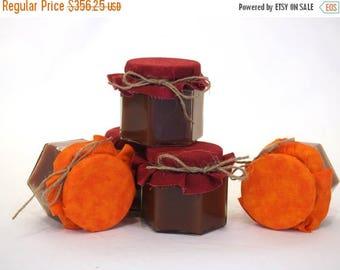 SALE 15% Off Ends Sunday 75 Fall Mason Jar Wedding Favors, Jam Jar Favors For Fall, Mason Jar Jam Fall Wedding, Fall Theme Wedding Favors, W