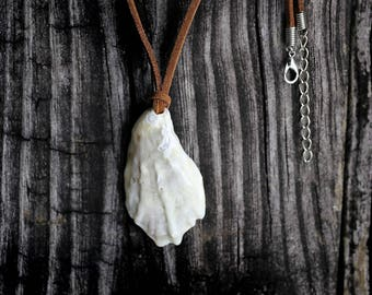 Boho Jewelry Unique Sea Shell Pendant Leather String Necklace Gift by VERO for SeaStyle