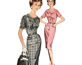 RARE Vintage 1940s/50s  Butterick Sewing Pattern 9797  Misses' and Women's Step-In Dress Size 14, Bust 34