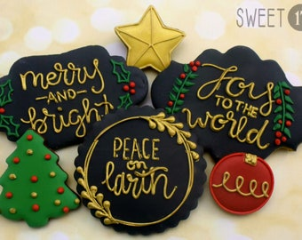 Christmas Sugar Cookies (Set of Six)