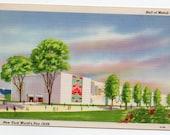 New York World's Fair 1939 Vintage Postcard Hall Of Metals Travel Souvenir Paper Ephemera Mid Century Modern Exhibition