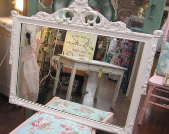 Hand Painted Vintage Mirror Finial Shabby Chic Farmhouse Cottage Prairie