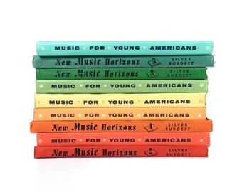 Vintage Rainbow Book Stack Music Books Music For Young Americans Instant Book Collection Vintage Decor Bookshelf Decor Decorative Colorful