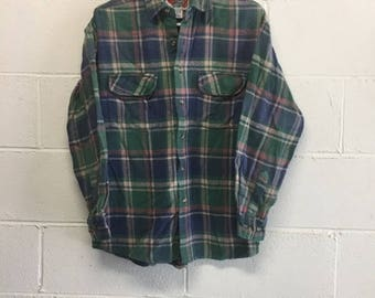 Vintage 80s-90s Paid Flannel Shirt
