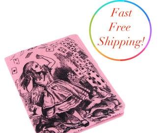 Alice In Wonderland Wallet, Travel Wallet, Credit Card Holder, Credit Card Wallet, Cheshire Cat, Mad Hatter, Alice Rabbit