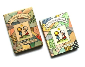 Vintage Joan Walsh Anglund--Miniature Book, A Pocketful of Proverbs 1964 Collectible, illustrated