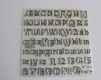 Acrylic Stamps, stamps, Close to my Heart, My Acrylix, Alphabet stamps, letter stamps, You Are My Happy Alphabet