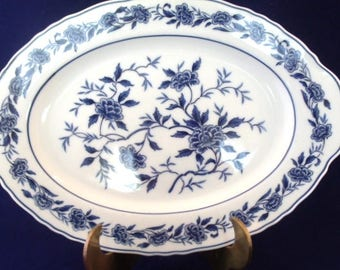 Blue Chatham By Symco, 12 Inch Oval Platter