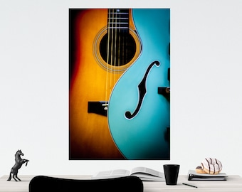 Guitars, Fine Art Photography, Home Décor, Wall Art, Free Shipping, Musical Instruments. Electric and Acoustic guitars, Color Photography