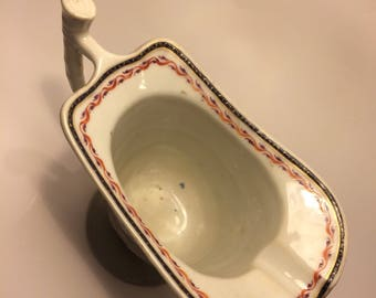 Antique Chinese export porcelain helmet creamer