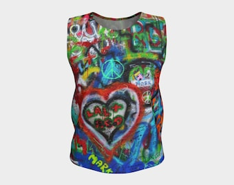Stylish Graffiti Tank Top with Savy and ARTitude - Fifty-One