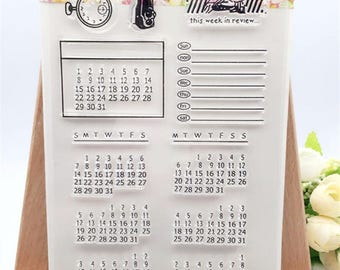 Calendar Clear Stamp Set