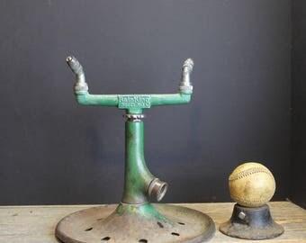Vintage Sunbeam Rain King Model H-3 Lawn Sprinkler // Rusty Green // Cast Iron