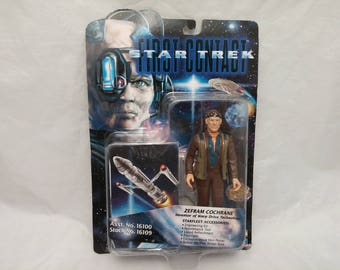 Star Trek First Contact Zefram Cochrane Action Figure - New in Box - NIB - 1996
