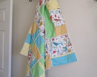 Patchwork Quilt,  Lap Rag Quilt, Handmade Quilt, Lap Quilt - Rag Quilt - Throw Quilt - Home Decor