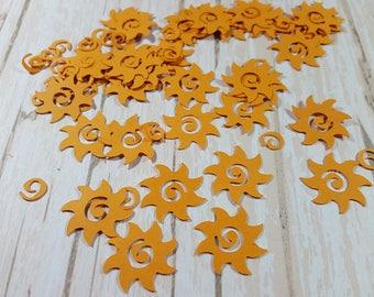 Sun die cut confetti scrapbook embellishments, Mix and Match