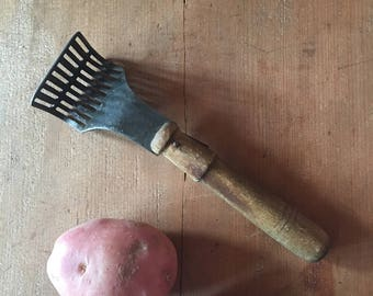 Vintage Potato Masher - Rustic Kitchen - Display