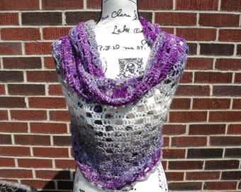 Crochet Shawl, Amelia's Calming Desert Wrap, Stole