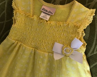 Vintage Little Lass Baby Dress, 18 mos.
