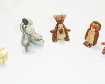 Miniature Clay Disney's Winnie The Pooh Characters - Set of 5