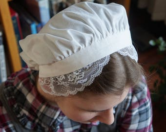 Colonial Mob Cap Bonnet Hat Sleep Cap In Girls And