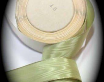 "Taffeta Ribbon 15/16"" x 10 yard roll Sage Green - 100% Rayon - Moire' Vintage"