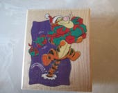 """Christmas Rubber Stamps Disney """" Bouncing Presents"""" For card making  Slightly used good condition"""