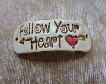 Follow Your Heart Bracelet Cuff