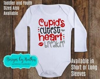 Valentine's Day Bodysuit - Valentine's Day Shirt - Baby Valentine - Heart Breaker Bodysuit - Baby Valentine's Shirt