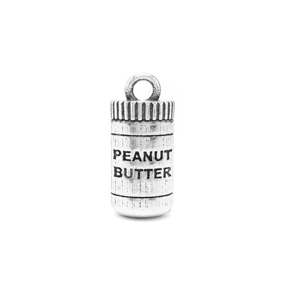 Peanut Butter Charm - Add a Charm to a Custom Charm Bracelets, Necklaces or Key Chains -  Nickel Free Charms