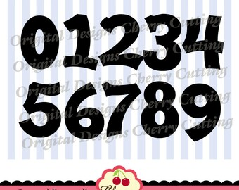 Birthday Numbers SVG DXF Plain Numbers 0-9 Silhouette & Cricut Cut Files -Personal and Commercial Use