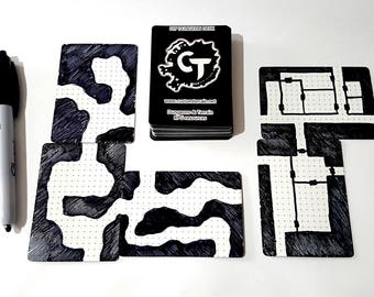 DIY Dungeon Deck Plaingrids - Draw Your Own Maps for Dungeons and Dragons, Pathfinder, Warhammer Quest, and more!