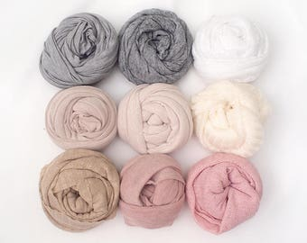 Stretchy Knit WRAP  - Newborn photography props