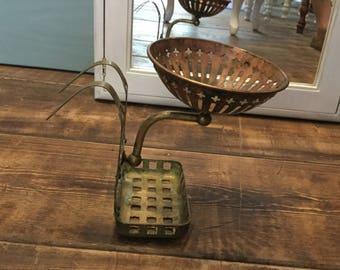 Antique Brass Clawfoot Tub Soap Dish, Sponge Holder