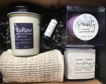 Spa gift box, relaxing gift for wife, Gift sets for women, relaxation basket, relaxation spa set, bath spa gift set, spa box