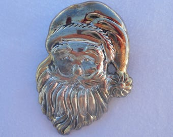 Santa Claus Convertible Brooch or Pendant Signed Best