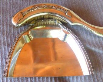 French Art Deco Silver Plated Crumb Tray And Brush