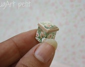 Square canister for dollhouse scale