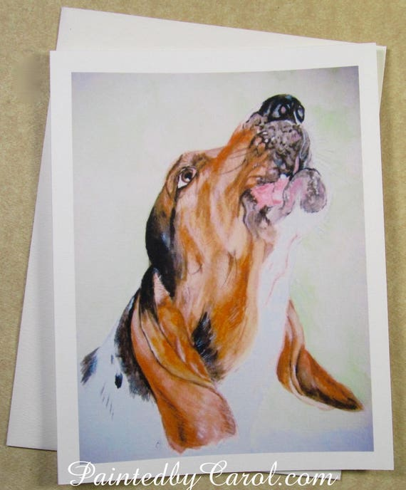 Basset hound birthday card birthday card with basset hound like this item bookmarktalkfo Gallery