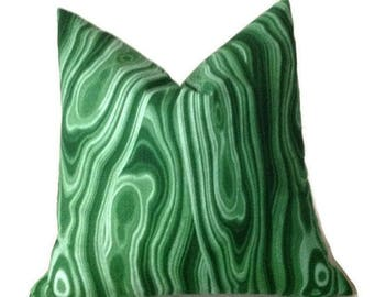 READY TO SHIP, 18x18, Robert Allen Malakos Pillow Cover in Malachite Green, Decorative Throw Pillow