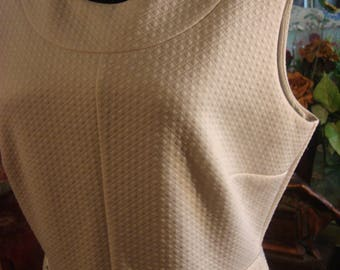 Vintage 1970 Classic White Liz Claibourne White Spandex and Polyester Dress