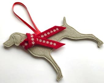 Weimaraner Dog Christmas Decoration, tree decoration