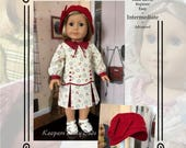 """PDF Pattern KDD-25 """"Downtown 1920s""""- An Original KeepersDollyDuds Design, 18"""" Doll Clothes"""