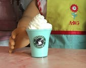 """Doll Drink ~ Fake Cotton Candy Mint COFFEE Frappuccino Mini Smoothie 